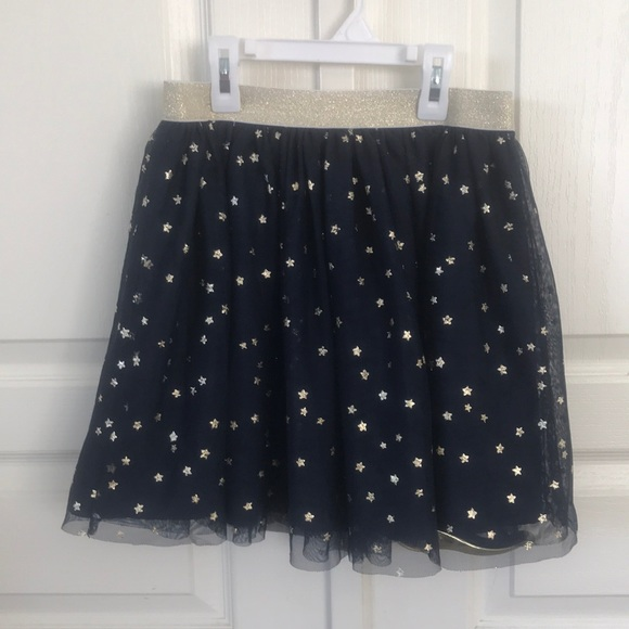 GAP Other - Girls Gap Navy Tulle Skirt w/ Gold Stars Sz L